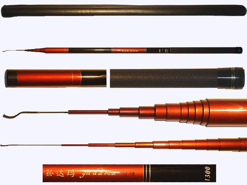 All fishing buy 43 ft telescopic fishing pole 98 high for Extendable fishing rod