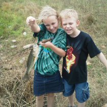 Randy K., Warm Springs, VA - Granddaughter and Grandson Wakata largemouth bass