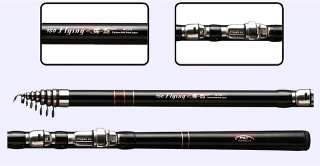 15ft 4.5m Spinning Pure Carbon Rod 1.5mm