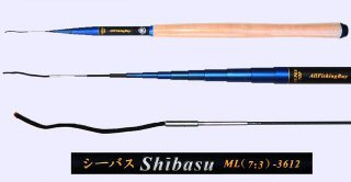 3.6m Medium Light Action Tenkara rod SHIBASU-3612