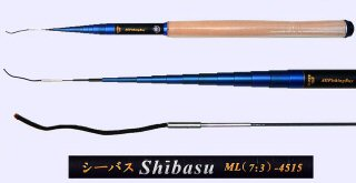 4.5m Medium Light Action Tenkara rod SHIBASU-4515